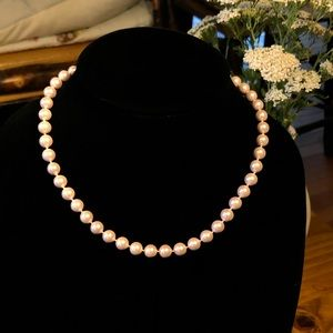 5/$25 Vintage Pink Pearl Single Strand Necklace